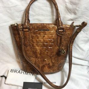 Brahmin Small Bowie Tamarind Melbourne Leather Bag